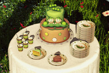 Aphrodite Two peas on a pod- Twins Baby shower mini party set