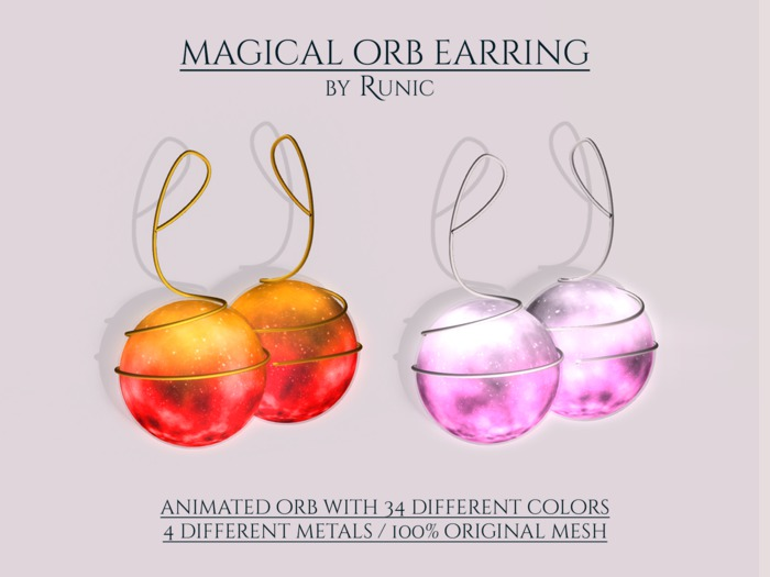 .: Runic :. Magical Orb Earring