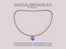 .: Runic :. Magical Orb Necklace