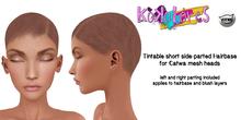[KoKoLoReS] Tintable short sideparted Hairbase/Catwa - wear me!