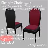 - May Sylphe - Simple Chair R Red/Black glossy