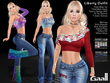 Gaall* Liberty Outfit for Maitreya clothes, Slink P, H, Belleza V, I, F - 18 Text
