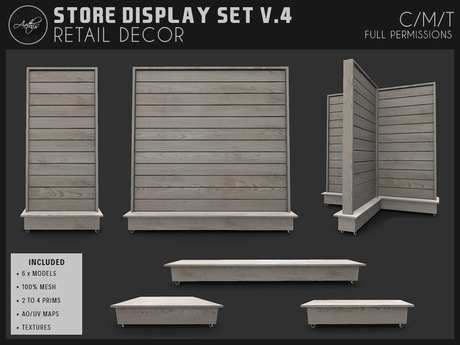 [AC] Store Display Set V.4 - 6 x Models
