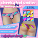 [DH] Cheeky boi undies - Bright stripes (for Maitreya body)