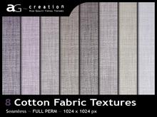 FULL PERM - 8 Cotton Fabrics Textures 01