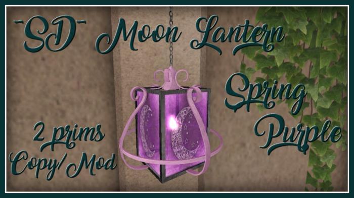 ~SD~ Moon Lantern ~ Spring Purple