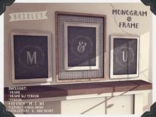 [Brixley] Monogram Frame