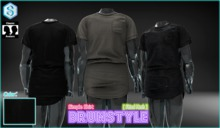 [BrunStyle] Simple Shirt (Fitted Mesh) - Black