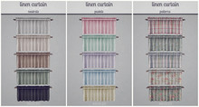 [Brixley] linen curtain fatpack