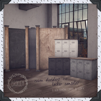 [Brixley] room dividers and locker consoles