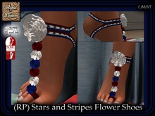 (RP) Stars and Stripes Flower Shoes