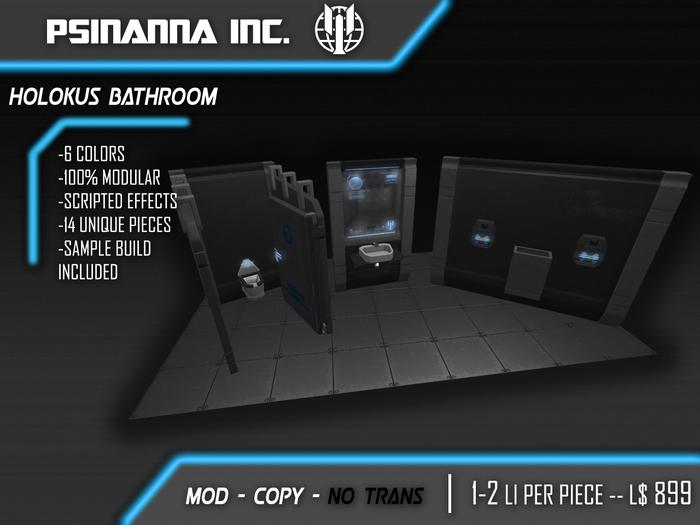 PsiNanna, Inc. HoLokus Modular Bathroom/Scifi Interior Kit
