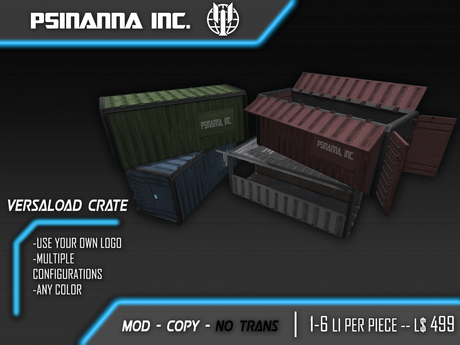 PsiNanna, Inc. VersaLoad Container