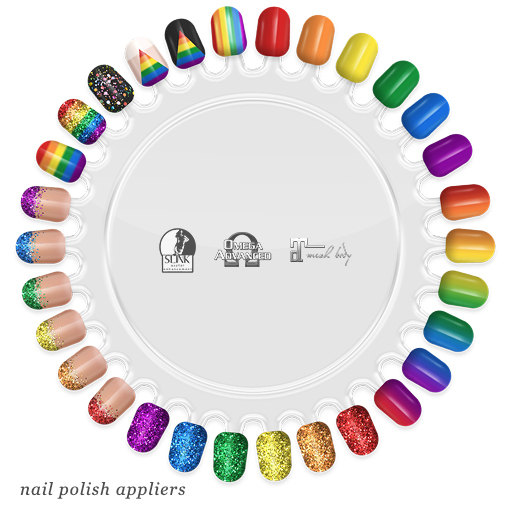 "alaskametro<3 ""Pride"" rainbow nail art appliers | Appliers: Slink/Omega/Maitreya"