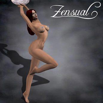 """""""Lumina"""" - 3D fountain sculptie statue of a nude woman by Zensual Sculpture - sculpty & sculpted art"""