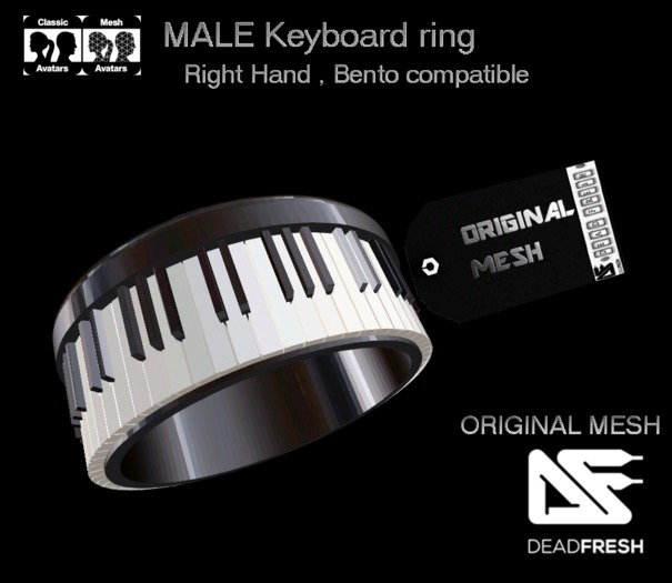 [DF] Keyboard Ring _ Bento Compatible Right Hand
