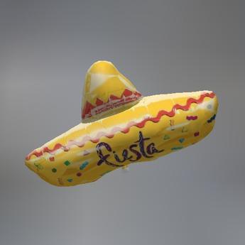 Fiesta Sombrero Mesh Tip Jar