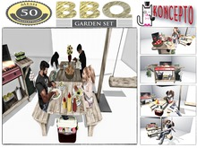 Barbecue Set Bbq Garden Set Picnic Table 50 HQ Single and Couple Animations By Koncepto / Barbeque / Promo Price!