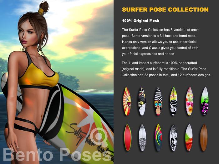 [ Quixotica ] Surfer Pose Collection