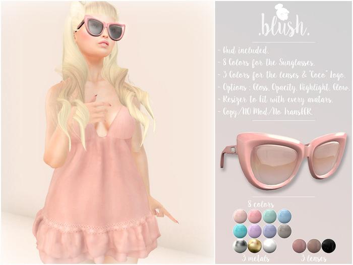 .BLUSH. Coco Sunglasses - 8 Colors Mesh