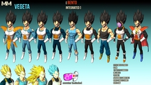 MM (Mesh Mirage) DBXV2 Vegeta All Outfits Pack V2.0.3