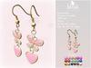Blush earrings butterfly   heart   12 colors   6 metals pr2