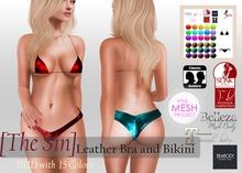[The Sin] Leather  Bra and Bikini