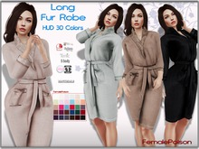 !FP! Long Robe Fur HUD 30 Colors - Slink Physique Hourglass Belleza Maitreya TMP Tonic Ebody Classic Avatar