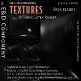 [FLR001] 7 Glossy, Shiny, Black Latex Rubber Cushion Textures from E&D ENGINEERING