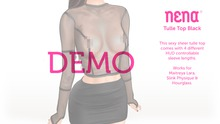 {Nena} Tulle Top Black - DEMO