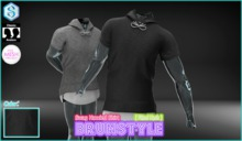 [BrunStyle] Swag Hooded Shirt (Fitted Mesh) - Black