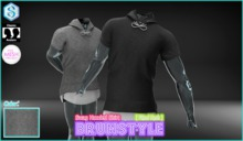 [BrunStyle] Swag Hooded Shirt (Fitted Mesh) - White