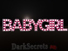 Dark Secrets - Babygirl Sign Decor