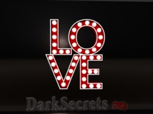 Dark Secrets - Love Sign Decor