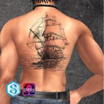 Second Life Marketplace Tattoo Bateau Dos