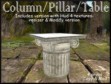 Gift - The Opus Column - Pillar/Table - Tidbits