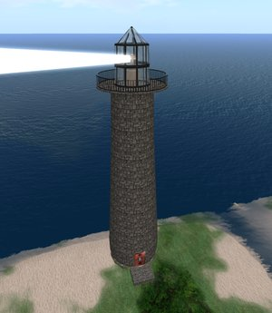 Lighthouse w/ Rotating Light