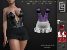 Elven Elder Fit Mesh skirt with corset v1 &Hud Maitreya Slink EVE