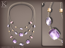 (Kunglers) miele necklace - Amethyst