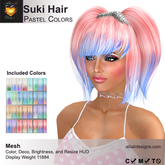 A&A Suki Hair Pastel Colors, boxed