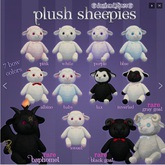 darkendStare. plush sheepies [black goat] RARE