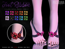 :PC: Foot Ribbon Flowers (Maitreya - Belleza - Slink - Unrigged)