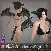 ::: B@R ::: Black Devil Mini B-Wings (Bento Wings Ears and Tai)