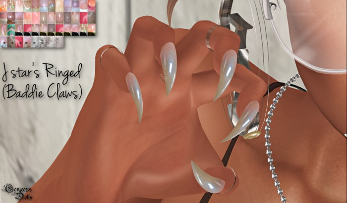 ~GD~J Star's Ringed(Baddie Claws) - Maitreya Bento Hands