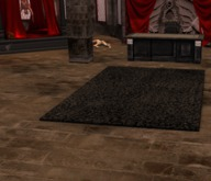 BH black Furry rug