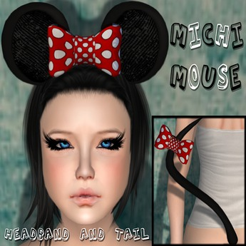 Michi Mouse Headband and Tail