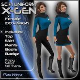 PaxWerx X-Gen Uniform - Female Blue