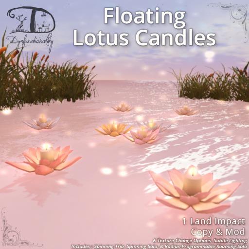 [DDD] Floating Lotus Candles - Tex. Change, Roaming Realistic Lighting