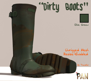 *PAN* Dirty Boots (Olive)