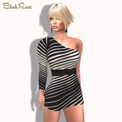 BlackRose Electra Dress Striped